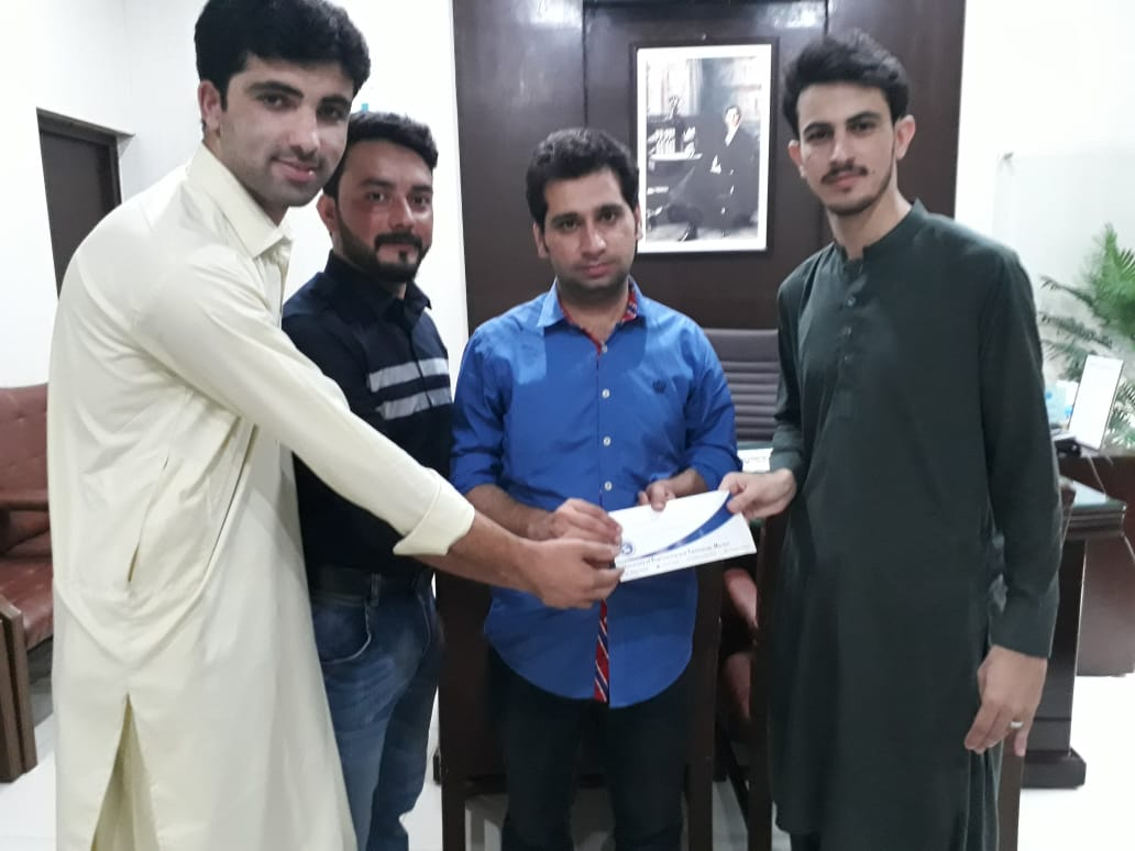 Cash Prize distribution ceremony  was held on 02 September 2019 in the department of Electrical engineering in which cash prizes were distributed to the top five winners of Final Year Projects of the Department.